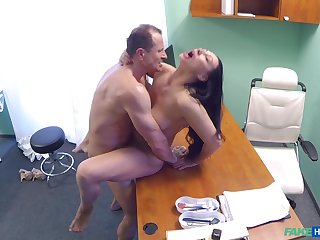 Eva Ann gets a sex toy stuck in say no to twat and relies on doctor for help