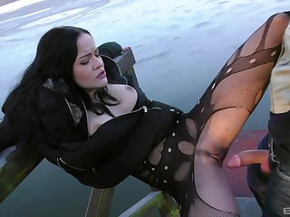 Fuck machine fun and outdoor sex be fitting of slutty ecumenical Dolly Diore