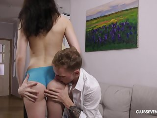 Cock hungry GF Cinderella demanded to be fucked balls unfathomable cavity